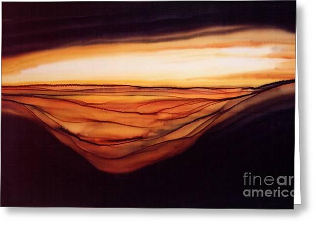 Desert Glow Greeting Card by Addie Hocynec