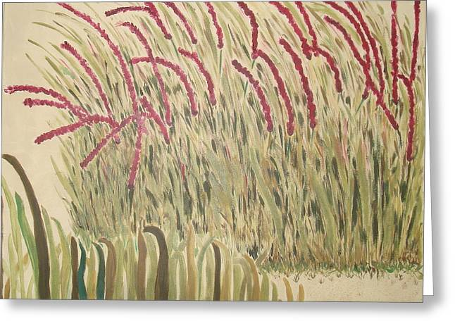 Desert Grasses Greeting Card by Wendy Peat