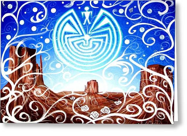 Desert Hallucinogens Greeting Card