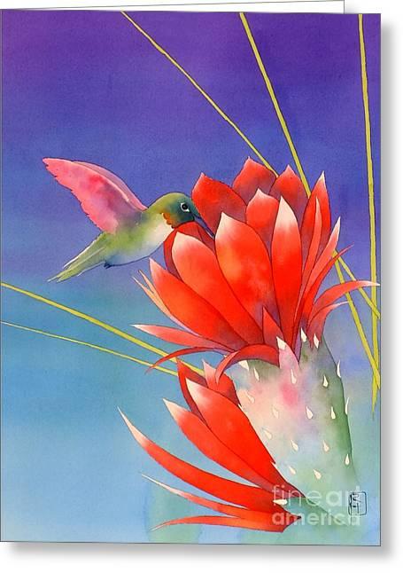 Desert Hummer Greeting Card by Robert Hooper