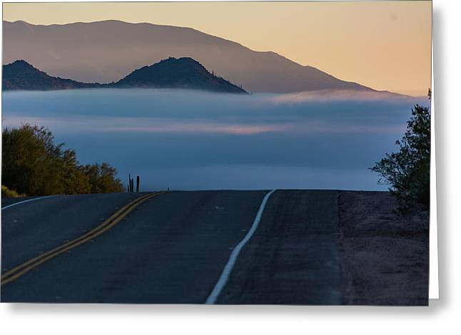 Desert Inversion Highway Greeting Card