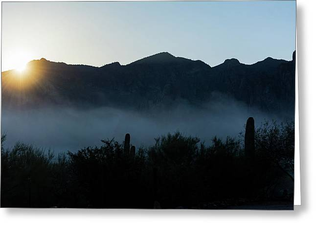 Desert Inversion Sunrise Greeting Card