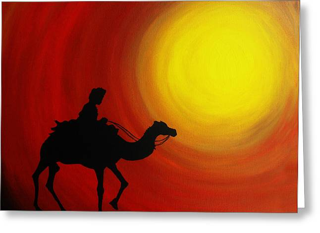 Desert King Greeting Card by Ramneek Narang