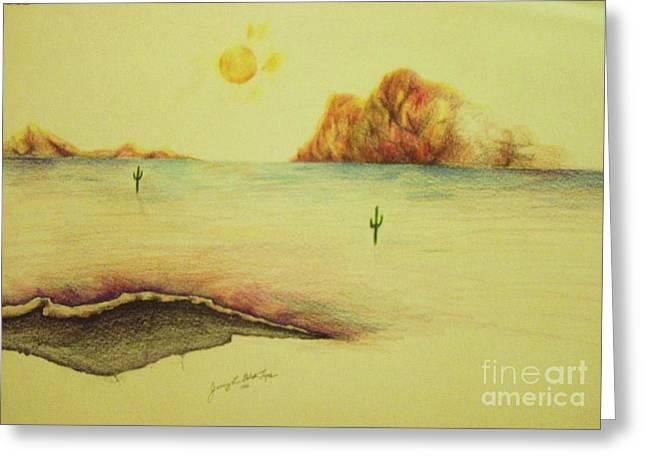 Desert Lake  Greeting Card