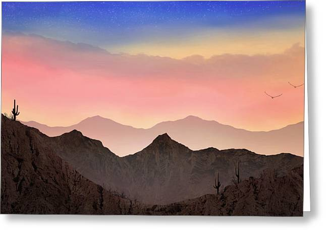Greeting Card featuring the photograph Desert Landscape by Anthony Citro