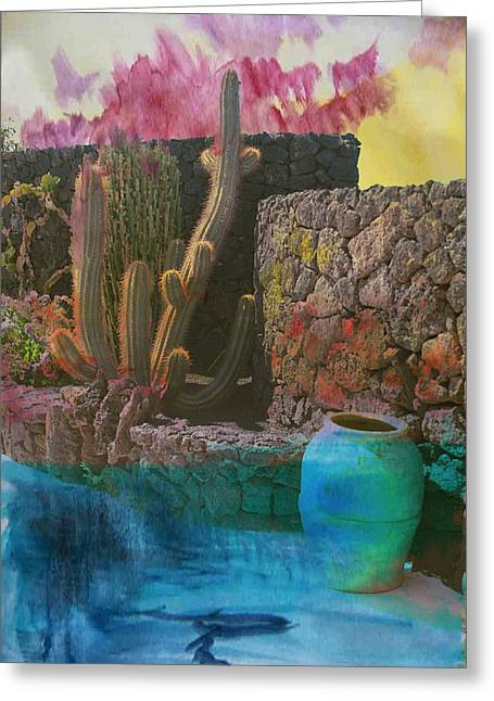 Desert Landscape Greeting Card