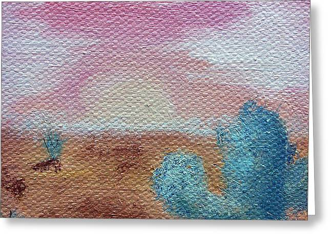 Desert Landscape Greeting Card by Jera Sky