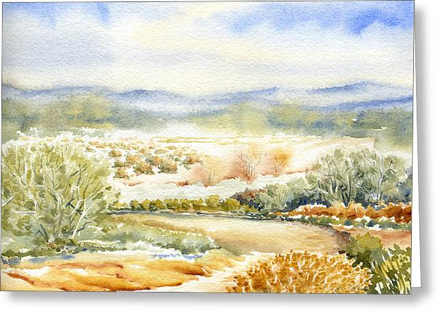 Desert Landscape Watercolor Greeting Card