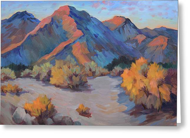 Greeting Card featuring the painting Desert Light by Diane McClary