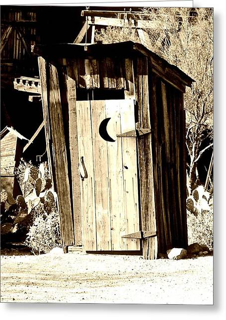 Desert Loo Greeting Card by Cathy Dunlap