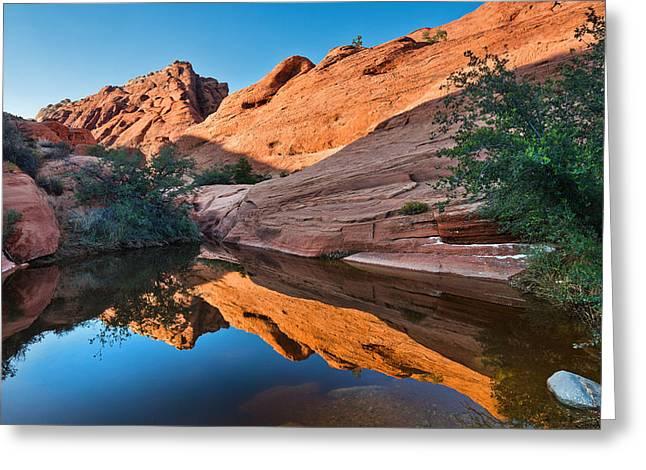 Desert Mirror Greeting Card