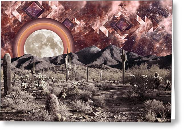 Desert Moonrise Greeting Card