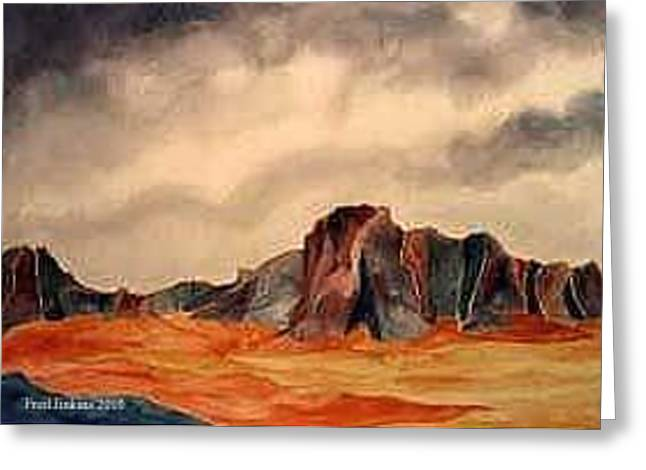 Desert Mountains Greeting Card by Fred Jinkins