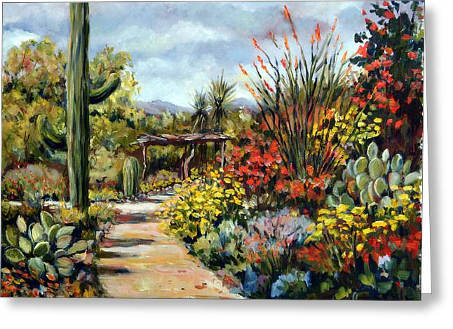 Desert Museum Garden Tucson Greeting Card