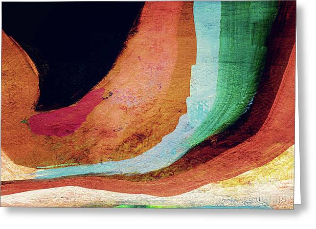 Desert Night-abstract Art By Linda Woods Greeting Card