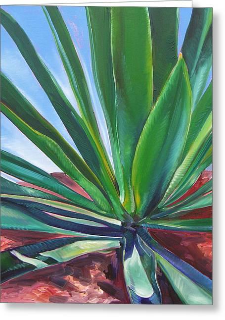 Desert Plant Greeting Card by Karen Doyle