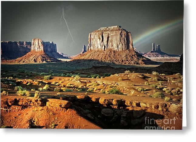 Desert Rain Greeting Card by Edmund Nagele