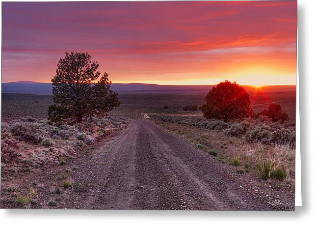 Desert Road 4 Greeting Card by Leland D Howard