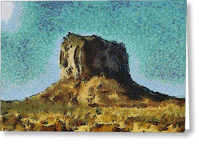 Desert Rock Greeting Card by John Winner