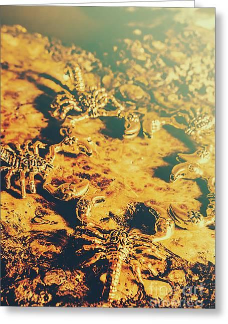 Desert Scorpion Scarabs Greeting Card
