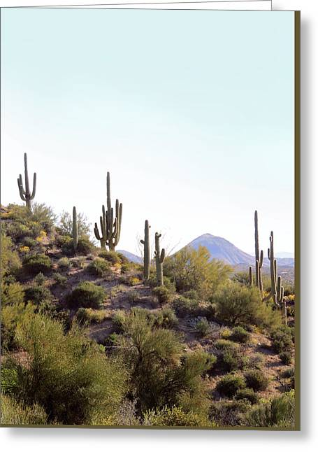 Greeting Card featuring the photograph Desert Skyline by Gordon Beck