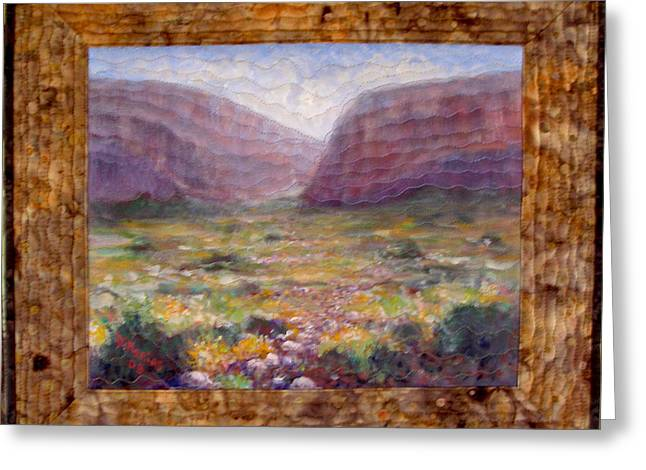 Desert Spring Greeting Card by Diane and Donelli  DiMaria