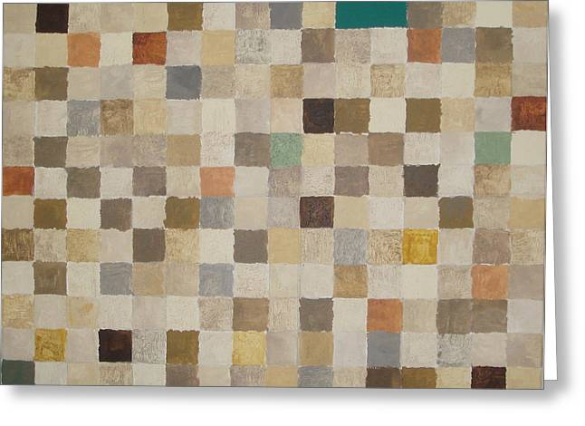 Desert Squares Greeting Card by Wendy Peat