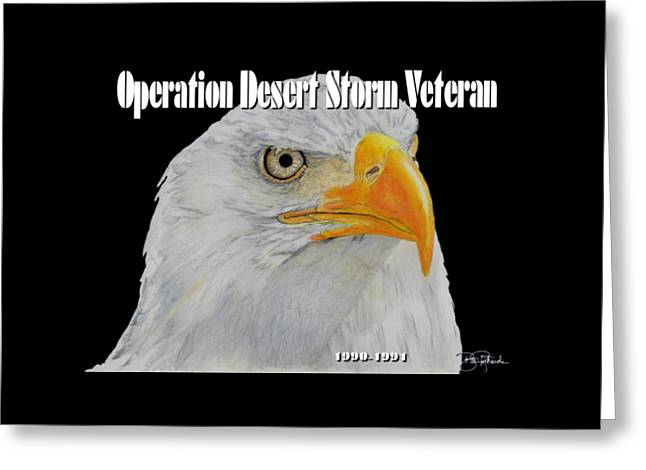 Desert Storm Eagle Greeting Card by Bill Richards