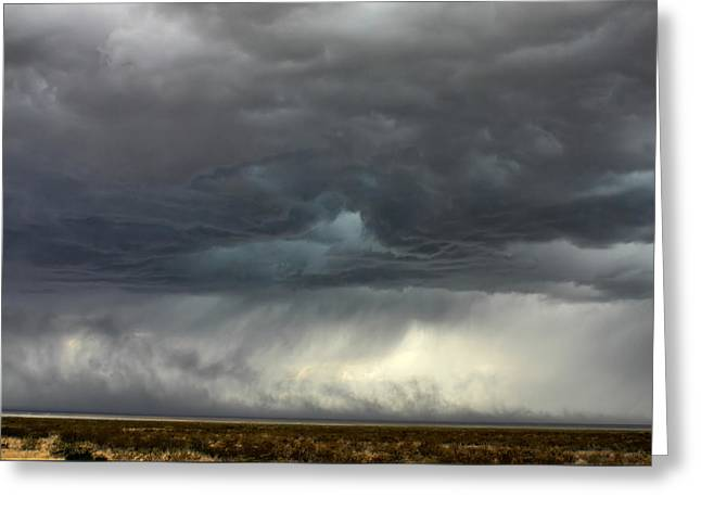 Greeting Card featuring the photograph Desert Storm by Farol Tomson