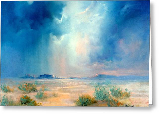 Desert Storm Greeting Card by Sally Seago