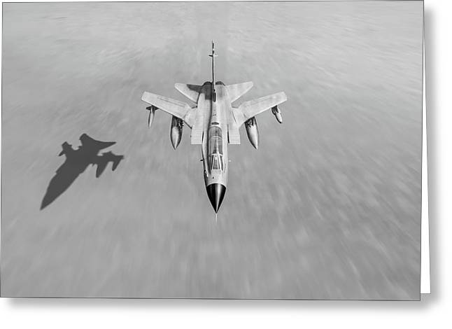 Desert Storm Tornado Low Level Black And White Version Greeting Card by Gary Eason