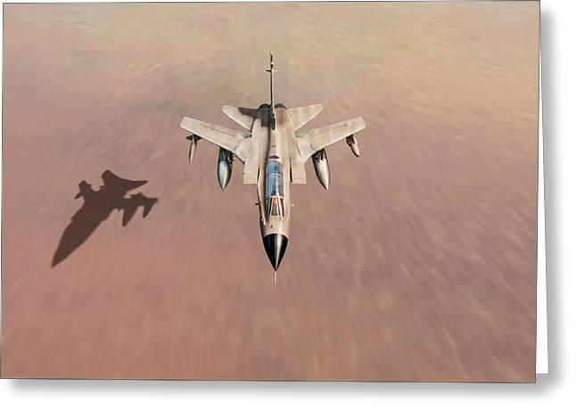 Desert Storm Tornado Low Level Greeting Card by Gary Eason