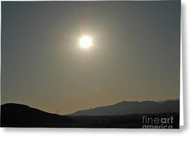 Desert Sun Greeting Card