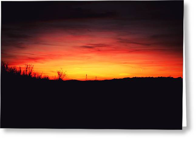 Desert Sundown Greeting Card