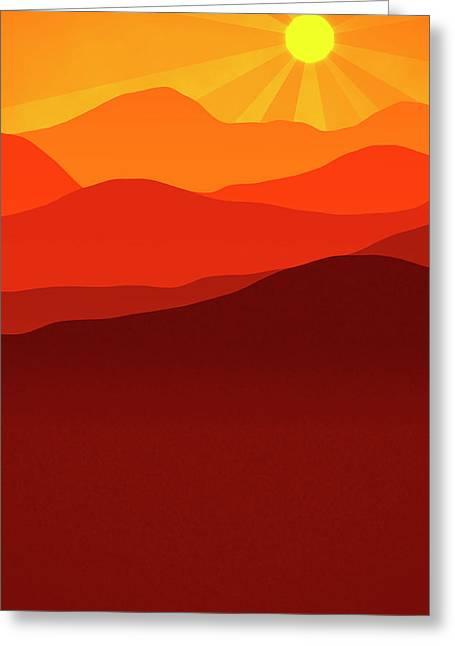 Desert Sunrise Greeting Card by Daniel Hagerman