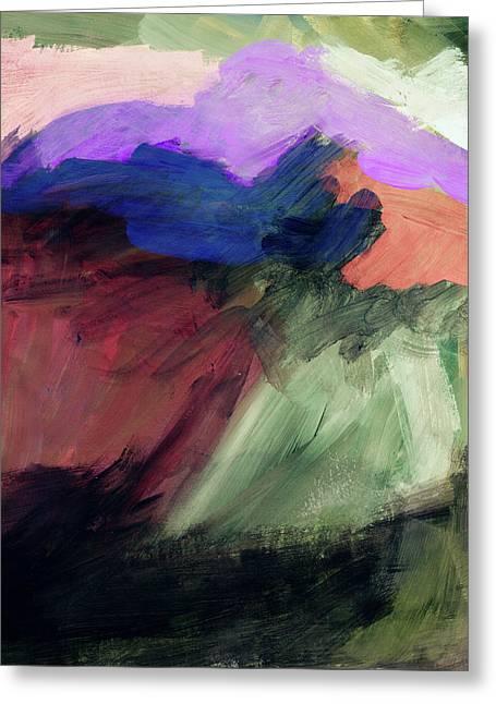 Desert Sunset 1- Art By Linda Woods Greeting Card