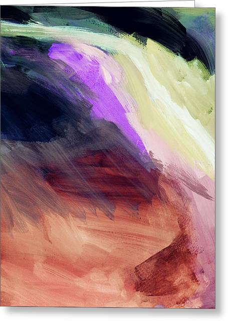 Desert Sunset 2- Abstract Art By Linda Woods Greeting Card