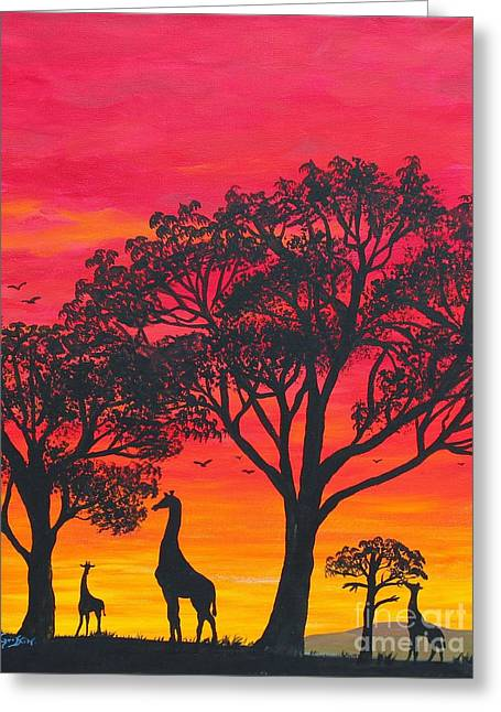 Desert Sunset 2 Greeting Card by Barbara Griffin