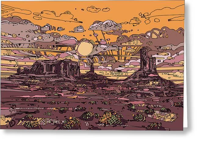 Desert Sunset 2 Greeting Card