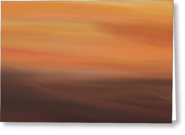 Desert Sunset Greeting Card by Dan Sproul