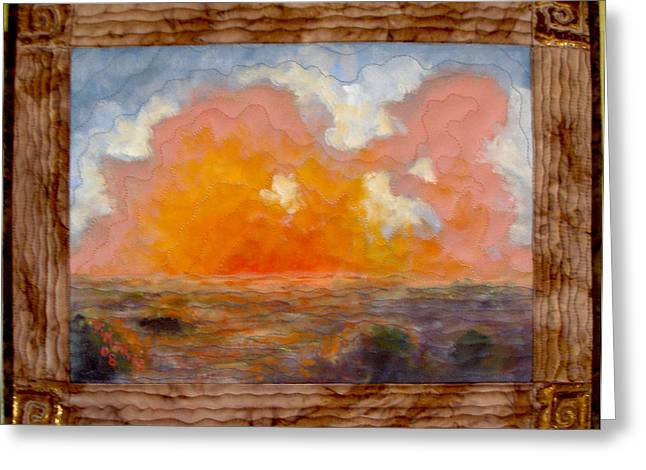 Desert Sunset Greeting Card by Diane and Donelli  DiMaria