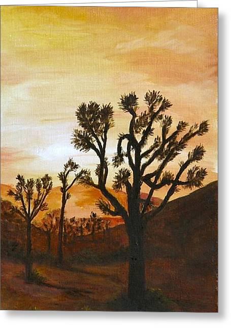 Desert Sunset II Greeting Card by Merle Blair