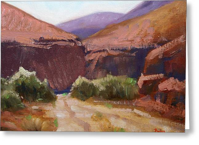 Desert Trail Greeting Card by Keith Nolan