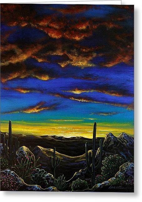 Desert View Greeting Card by Lance Headlee