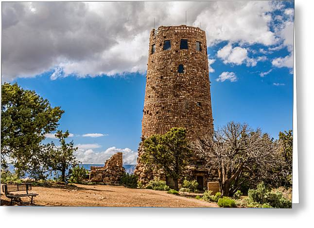 Desert View Tower Grand Canyon Greeting Card