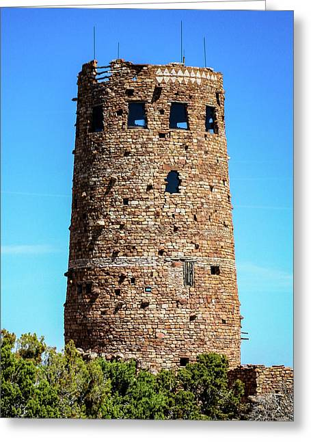Desert View Watchtower At The Grand Canyon Greeting Card