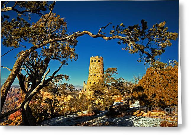 Desert View Watchtower, Grand Canyon National Park, Arizona Greeting Card