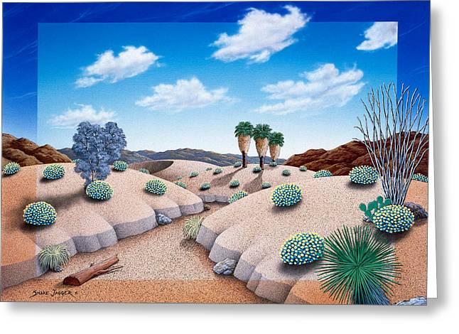 Desert Vista 2 Greeting Card by Snake Jagger