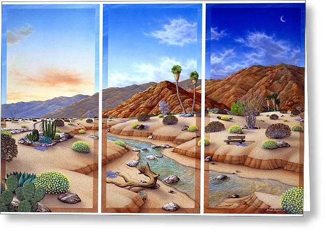 Desert Vista Greeting Card by Snake Jagger