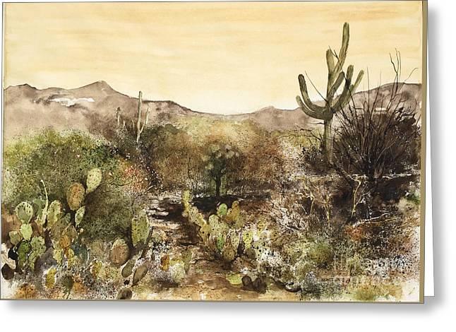 Desert Walk Greeting Card